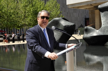 Dedication of the Paul Milstein Pool and Terrace at Lincoln Center.