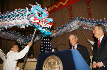 Emigrant Savings Bank Chairman Howard Milstein Joins Mayor Michael Bloomberg to Celebrate Chinese Lunar New Year 4710