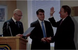FDNY Swears in New York Blood Center Chairman Howard Milstein as Honorary Battalion Chief