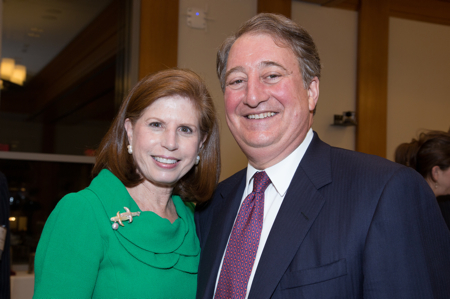 Abby and Howard Milstein at the dedication of the Milstein Conference Center at Harvard Law School.