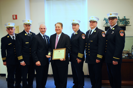 FDNY Swears in Howard Milstein as Honorary Battalion Chief