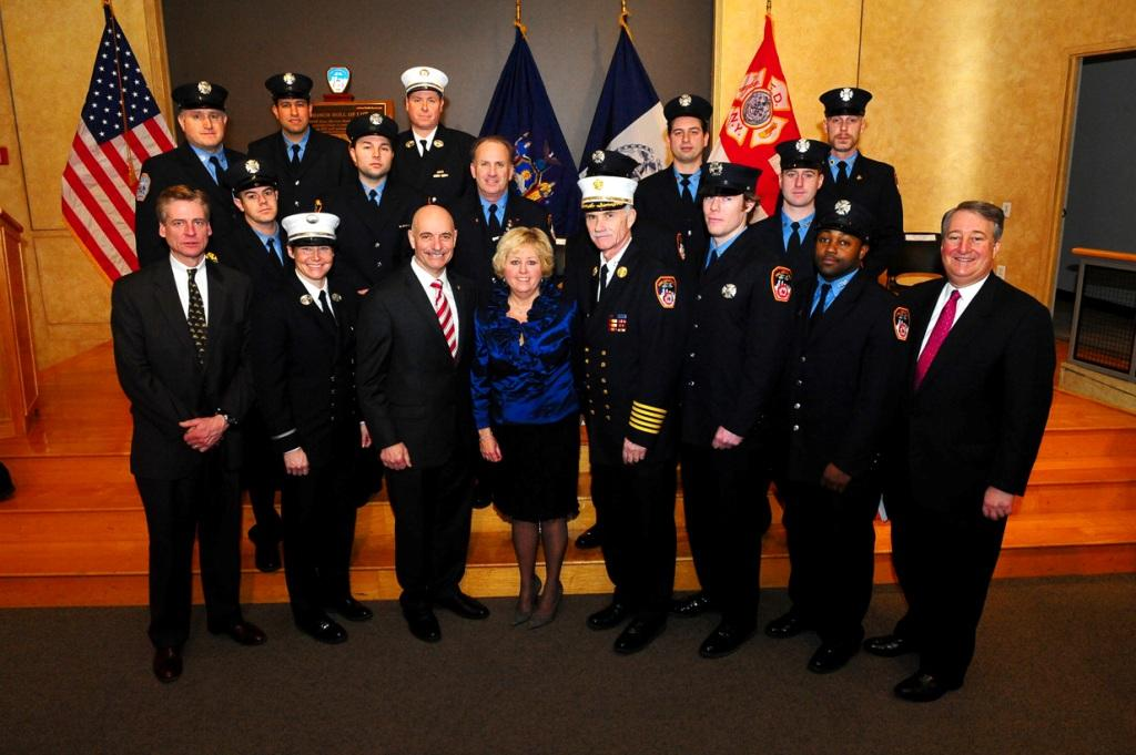 Participants in the seventh annual Honor Roll of Life induction ceremony at FDNY Headquarters. (Photo by Chris Herder)