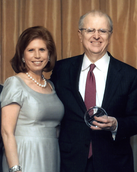 Abby Milstein, NYLAG chair, with New York State Chief Judge Jonathan Lippman, recipient of the 2013 Visionary of Justice Award, at the NYLAG 2013 Dinner.