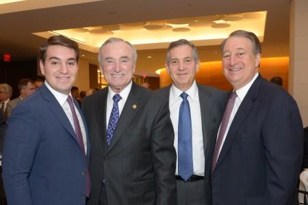 Michael Milstein, New York Police Commissioner William Bratton, Edward Milstein and Howard Milstein (left to right)