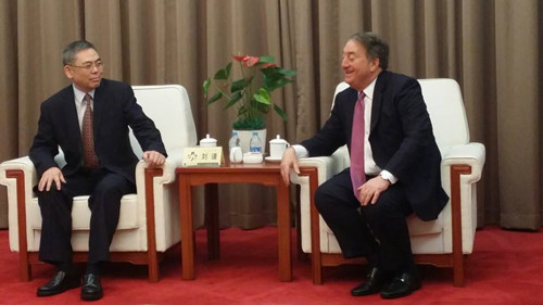 Howard Milstein meeting with Liu Qian, the Vice Minister of the Ministry of Health.