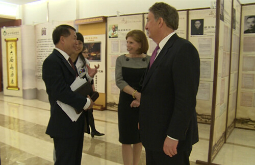 Howard Milstein and Abby Milstein visiting Peking Union Medical College Hospital.