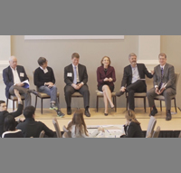 """Panel discussion at The Miller Center about the Milstein Symposium's latest report, """"Can Startups Save the American Dream?"""""""