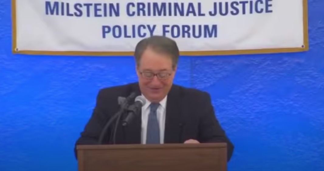 Howard Milstein introduces London Deputy Mayor Stephen Greenhalgh at the Milstein Criminal Justice Policy Forum on February 12, 2015.