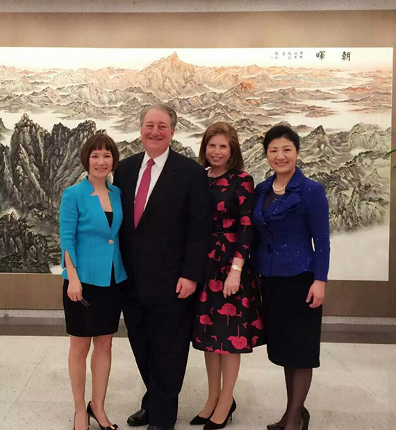 Michelle Miao, Program Manager/Director with the New York City Department of Finance and Trustee with the New York Blood CenterHoward Milstein; Abby Milstein; and Vice Consul Zhang Meifang