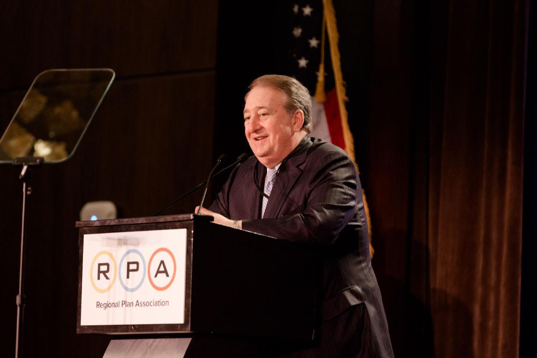 Howard Milstein Presents John Zuccotti Award to Tony Coscia
