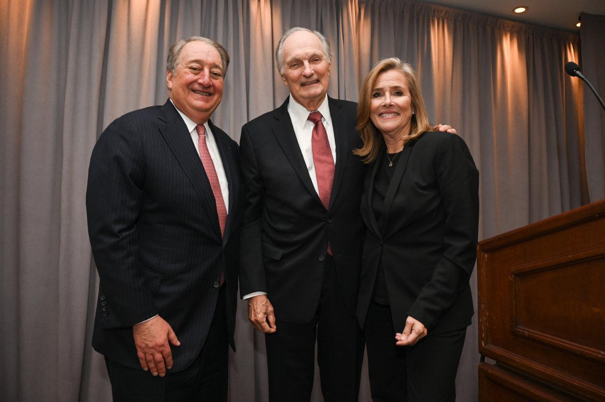 Howard Milstein, Alan Alda and Meredith Viera