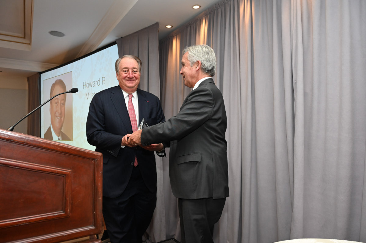 Howard Milstein and Mike Hodin. Mike introduced and presented Howard with the AFAR Award