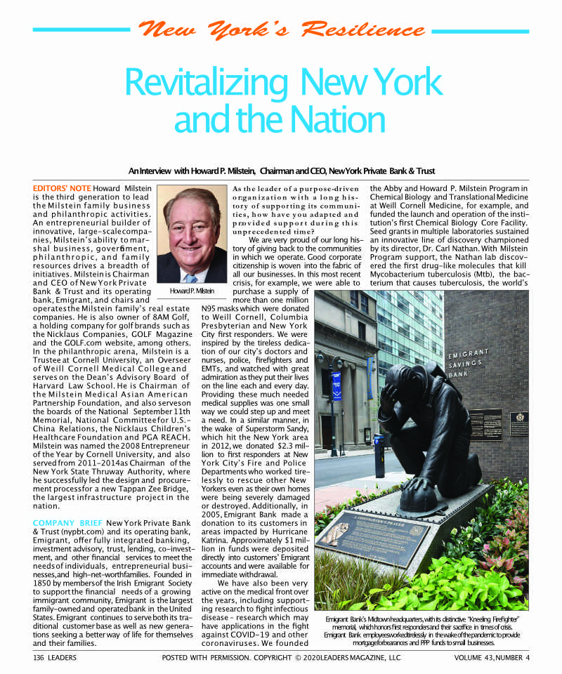Revitalizing New York and the Nation